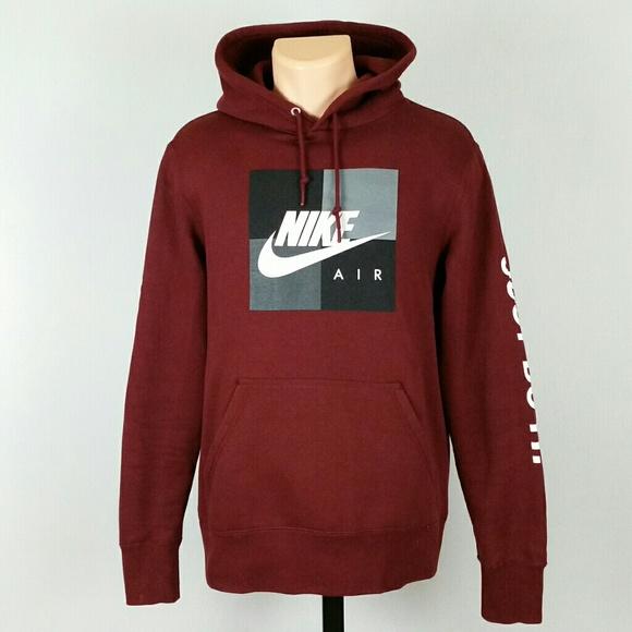 d6bc979a04b6 Nike Air Men s Burgundy Just do it Hoodie Medium. M 5bed70a6f63eeacba719fc93
